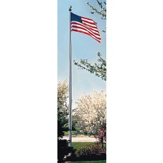 Quality Aluminum Flag Pole, CLEAR ANODIZED, 25'