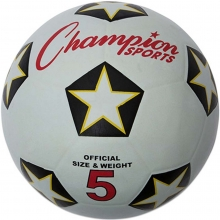 Champion Rubber Soccer Ball, Size 3, 4 & 5