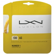 Luxilon 4G 16/1.30mm Tennis String, Gold, 40'