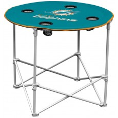Miami Dolphins NFL Pop-Up/Folding Round Table
