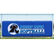 Cover Sports 3'H x 10'L Baseball/Softball Backstop Padding w/Graphics