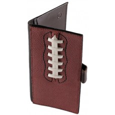 Leather Football Checkbook Wallet
