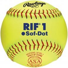 "Rawlings 11"" ASA RIF Level 1 Synthetic Fastpitch Softballs, SR11RYSA , dz"