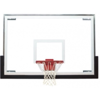 Bison BA48 48'' Tall Glass Basketball Backboard