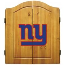New York Giants NFL Dartboard Cabinet Set