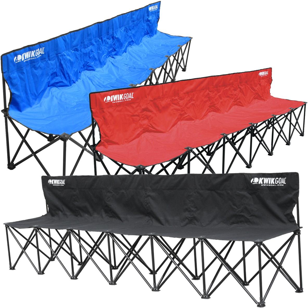 Kwik Goal 6 Seat Kwik Bench Folding Soccer Bench 9b906