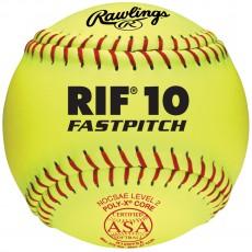 "Rawlings 12"" ASA RIF Level 10 Synthetic Fastpitch Softballs, R12RYSA , dz"