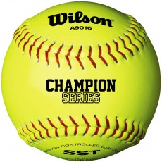 "Wilson 12"" A9016 47/375 Champion NFHS Leather Cork Softball, WTA9016BSST"