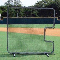 Trigon Pro Cage 7' x 7' Softball Pitcher's C-Screen Protective Screen