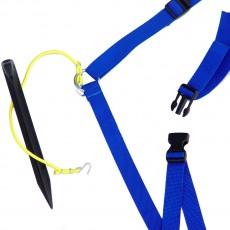 "Park & Sun 1"" Blue Outdoor Volleyball Boundary Kit"