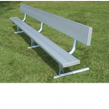 National Rec 8' PORTABLE Aluminum Team Player Bench w/ Backrest