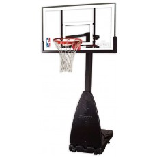 "Spalding 54"" Glass Portable Residential Basketball Hoop"