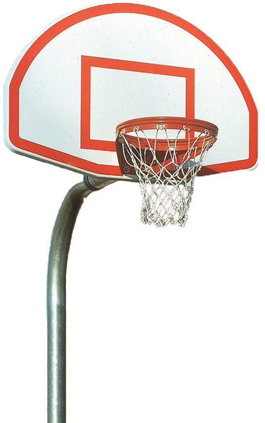 Bison Pr52 4 1 2 Gooseneck Basketball Hoop W Fan Backboard