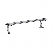 Jaypro 7.5' SURFACE MOUNT Aluminum Player Bench,PB-75SM