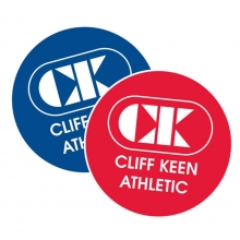 Cliff Keen Round Freestyle Wrestling Flip disc, Red/Blue