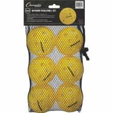 Champion 6/set USAPA Outdoor Pickleballs