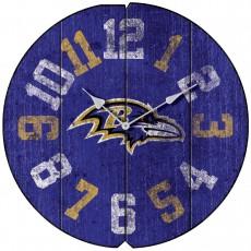 Baltimore Ravens Vintage Round Clock