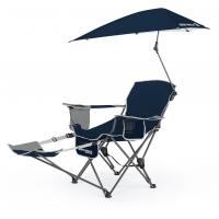 SKLZ Sport-Brella Folding Recliner Chair w/ Umbrella & Footrest