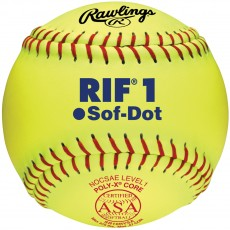 "Rawlings 10"" ASA RIF Level 1 Synthetic Fastpitch Softballs, dz, SR10RYSA"