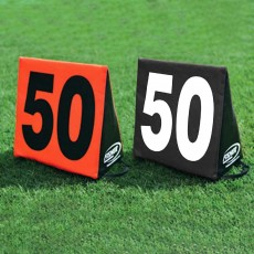 Fisher set of 11 Triangular Football Sideline Markers