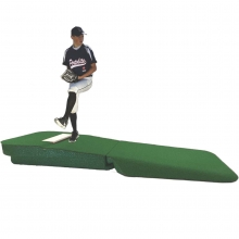 "Portolite 10""H x 8'6""L x 4'W Outdoor/Indoor Practice Pitching Mound, Green"