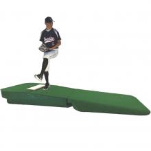 "Portolite 10""H x 8'6""L x 4'W Outdoor/Indoor Practice Pitching Mound, Green"