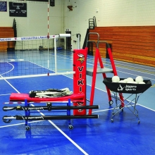 "Jaypro PVB-4500 3"" DELUXE FeatherLite Volleyball Package, PVB-4PKGDX"