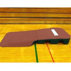 "Portolite 10"" Oversize Indoor/Outdoor Turf Practice Pitching Mound, Clay"