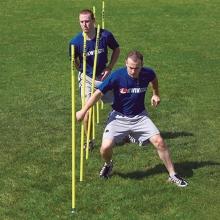 Kwik Goal set/6 Soccer Coaching Sticks w/ Steel Peg Base, 16B1001