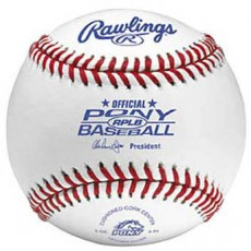 Rawlings RPLB-1 Regular Season Pony Baseballs, dz