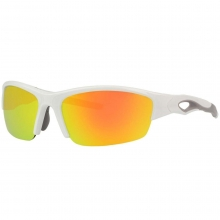 Rawlings 32 Adult Sunglasses Shiny White/Smoke with Orange Mirror