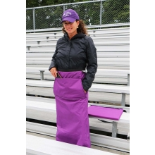 Wrapalap® All Weather Fleece Stadium Leg Blanket with Pockets & Seat Cushion