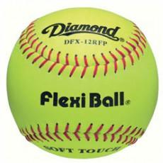 "Diamond 12"" DFX-12RFP Flexi Ball Leather Softball, dz"
