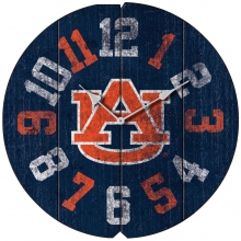 Vintage Round Clock, Auburn University, Tigers