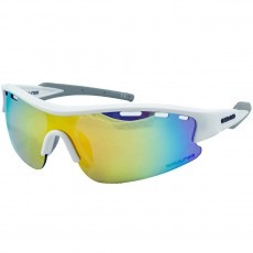 Rawlings Adult Sunglasses, White/Smoke with Orange Mirror