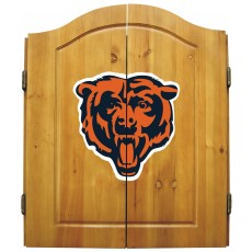 Chicago Bears NFL Dartboard Cabinet Set
