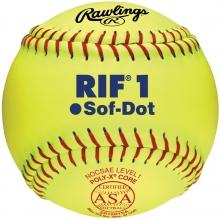 "Rawlings 10"" ASA RIF Level 1 Synthetic Fastpitch Softballs, dz, SR10RYSA"