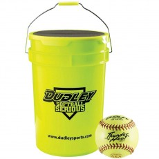 "Dudley Bucket with 1dz 12"", 4A147Y ASA Fastpitch Softballs"
