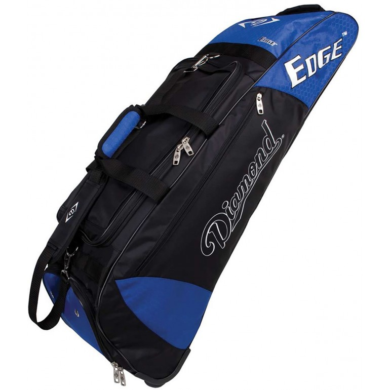 Diamond Edge Wheeled Baseball Softball Equipment Bag 36 Lx10 Wx12 H
