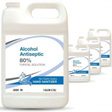 All American 4/gal Pack Bulk Hand Sanitizer, FDA Approved