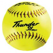 "Dudley 11"" SY11FP 47/375 Synthetic Fastpitch Softballs, dz"