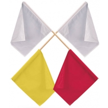 Gill Officials' Flags, Yellow/White
