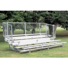 5 Row, 21' STANDARD Aluminum Bleacher w/ Vertical Rail