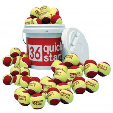 Quick Start 36 Oversized Training Tennis Ball Bucket w/ 60 Balls