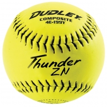 "Dudley 4E199Y 12"" Thunder ZN NSA ICON Composite Slowpitch Softballs, dz"