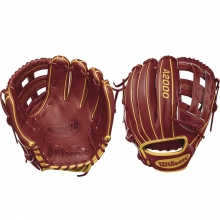 "Wilson 11.5"" A2000 Brick Red w/ Vegas Gold Baseball Glove, WTA20RB18PP05"