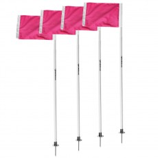 Kwik Goal Pink Soccer Corner Flags, set of 4, 6B520