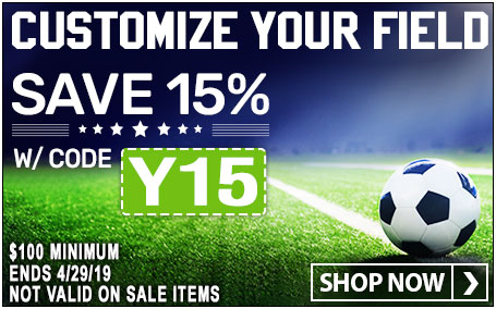 Customize Your Field - Save 15% on Soccer Gear