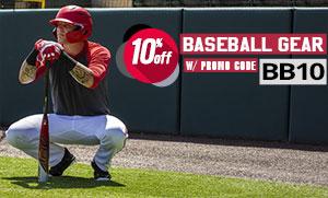 Save 10% on Baseball Gear