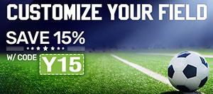 Save 15% on Soccer Gear